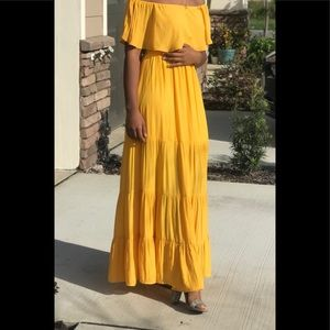 Yellow forever 21 maxi dress
